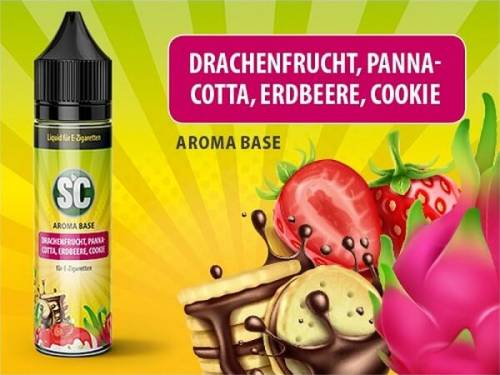 SC Vape Base Drachenfrucht, Pannacotta, Erdbeere, Cookie 50 ml